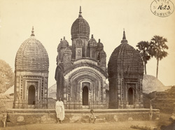Three temples at Dubrajpur, Birbhum District.